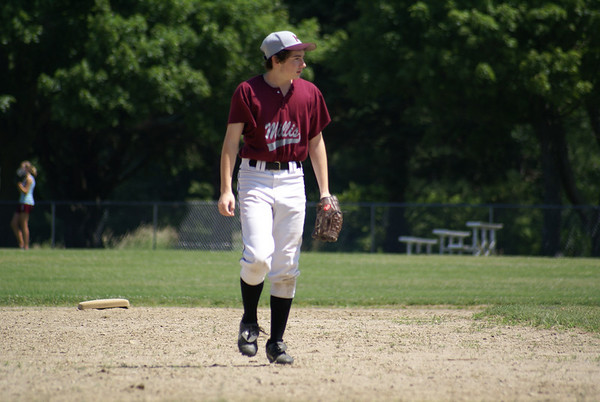 Josh Plays with Millis Tri Valley Summer League Baseball