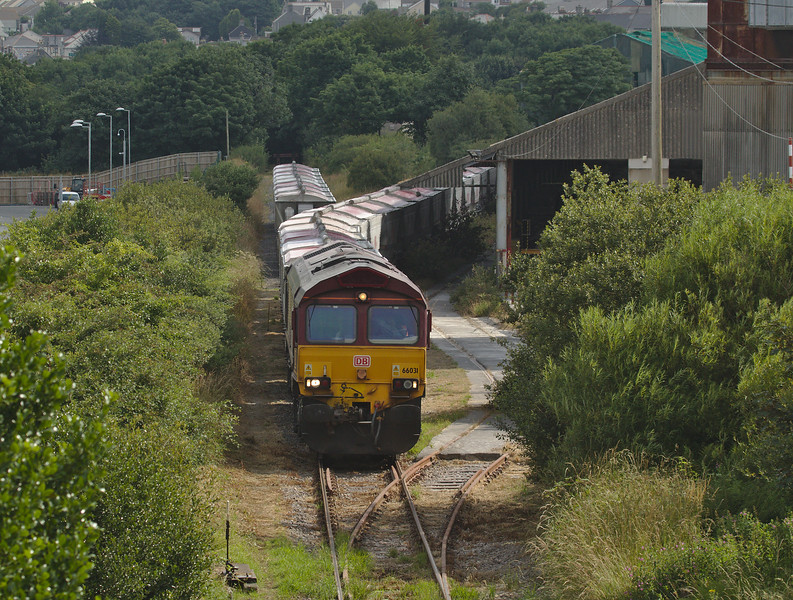 DB Schenker 66031 on the 614U china clay loads Parkandillack to Burngullow E.C.C.