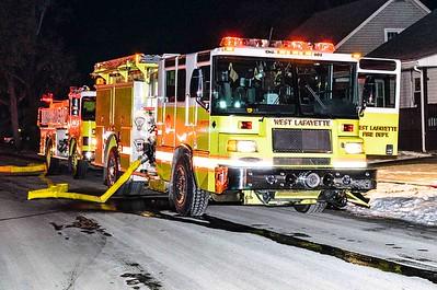 01-07-18 West Lafayette FD House Fire