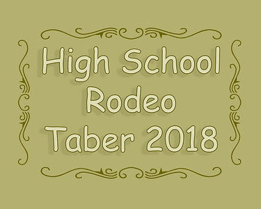 High School Rodeo Taber 2018