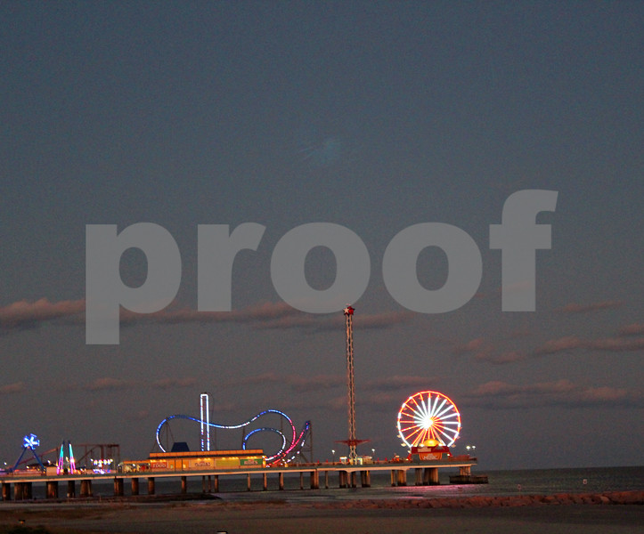 Sunset Over Pleasure Pier