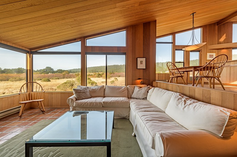 Living Room with Large Meadow View