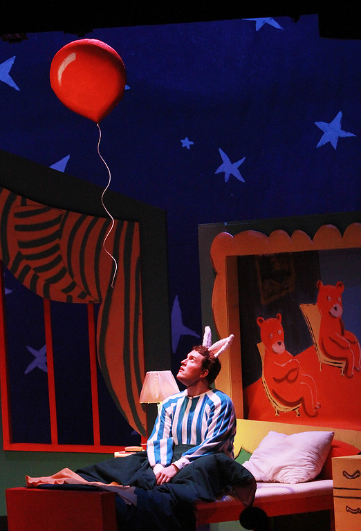 . Daniel Joyce plays bunny during �Goodnight Moon� at the Palo Alto Children�s Theatre on Wednesday, Feb. 6, 2013. �Goodnight Moon� is a musical by Chad Henry based on the book by Margaret Wise Brown and Clement Hurd. The musical showcases singing and dancing with nursery rhyme themes. The musical�s run ends on Sunday, Feb. 10, 2013. For more information, visit http://tinyurl.com/paloaltotheatre.  (Kirstina Sangsahachart/ Daily News)