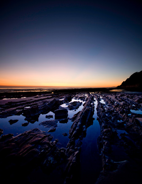 Tidepools at sunset.