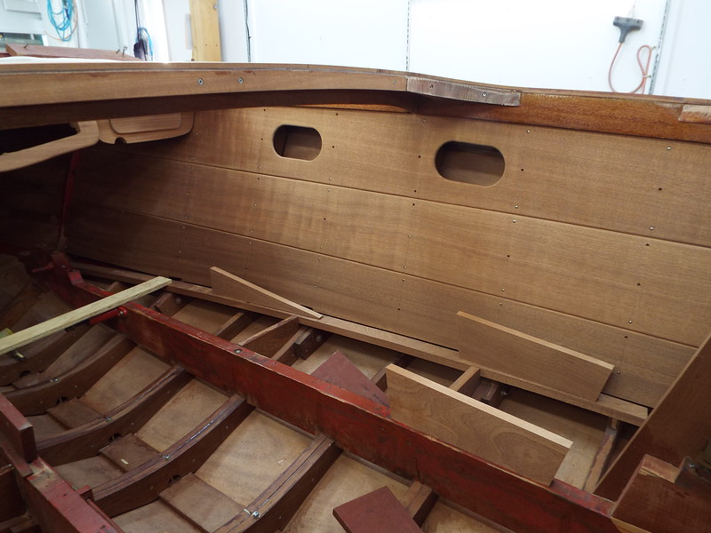New starboard liner built, fit and installed temporarily.