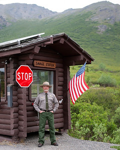 Working as a park ranger in Denali National Park at milepopst 15 ranger cabin. (Kent Miller 7/2009)