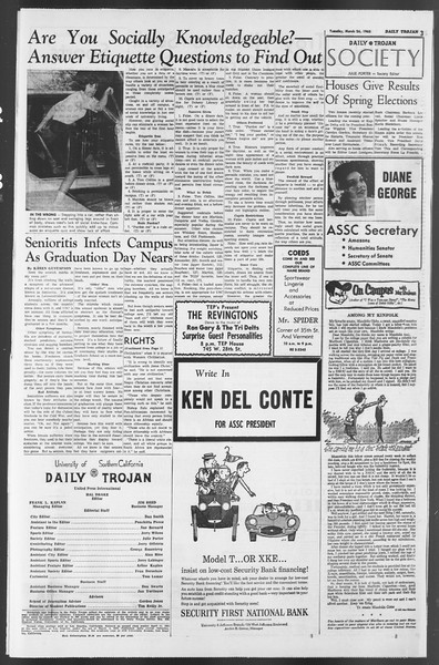 Daily Trojan, Vol. 54, No. 89, March 26, 1963