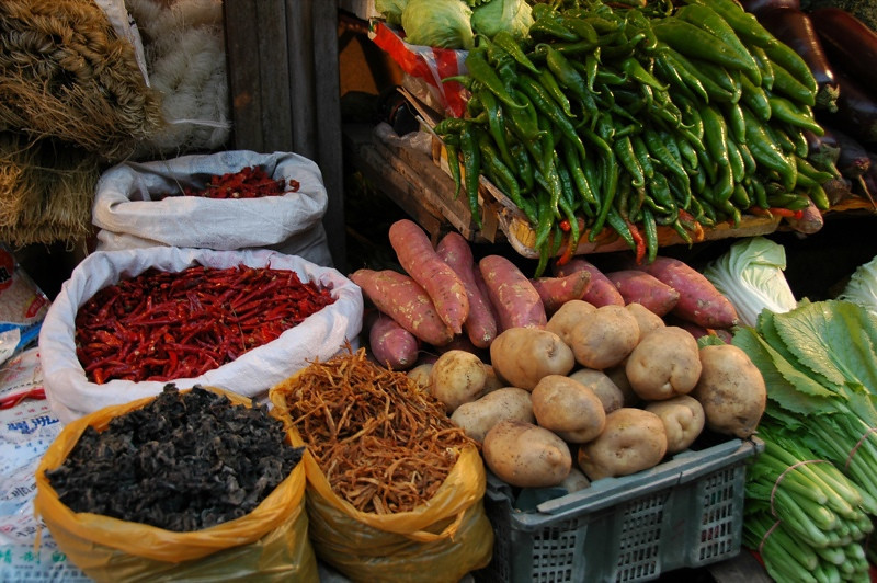 Streetside Veggies - Xi'an, China