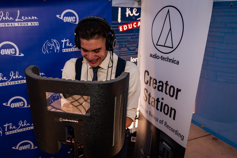 2018_05_11, Clark County Government Center, Las Vegas, NV, tents and tours, Workforce and Innovations Summit, owc, students, audio technica, creator station,