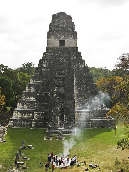 Jaguar Temple (Temple I) at Tikal ruins, Guatemala