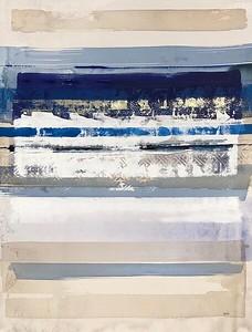 "Desert Raga 3-Leila, 50""x38"" acrylic painting with metal leaf"