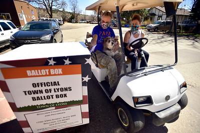 Photos: Town of Lyons Municipal Election Day During Coronavirus Pandemic