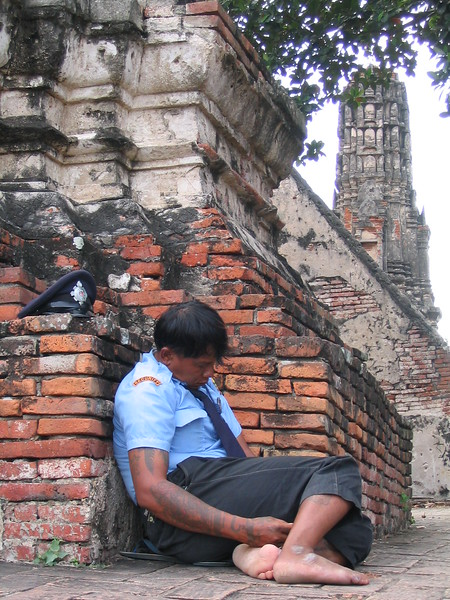 Like... who's going to steal a temple anyway?  Ayutthaya.
