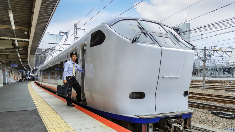 Haruka Airport Express. Editorial credit: Coward Lion / Shutterstock.com