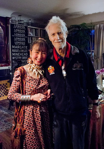 Birthday party at Robert Flynn Johnson - Lin Chen Willis on left