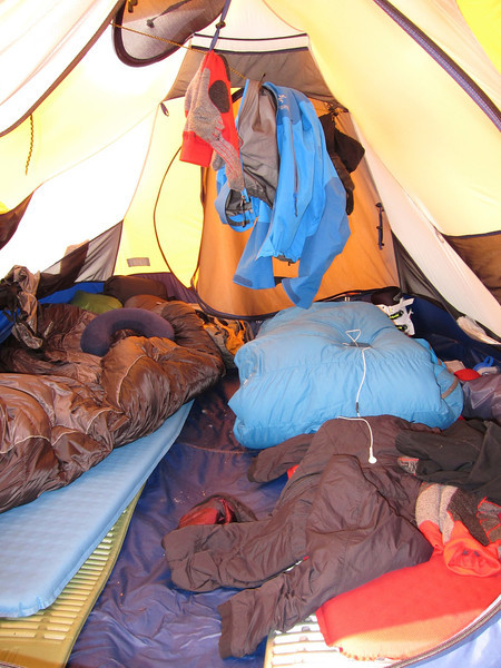 Our tent. My spot is left, Tim's right.