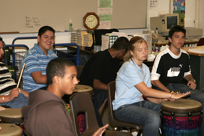 High School Classes - 2006-2007 - 9/22/2006 - English - Common Unity with Group Drumming