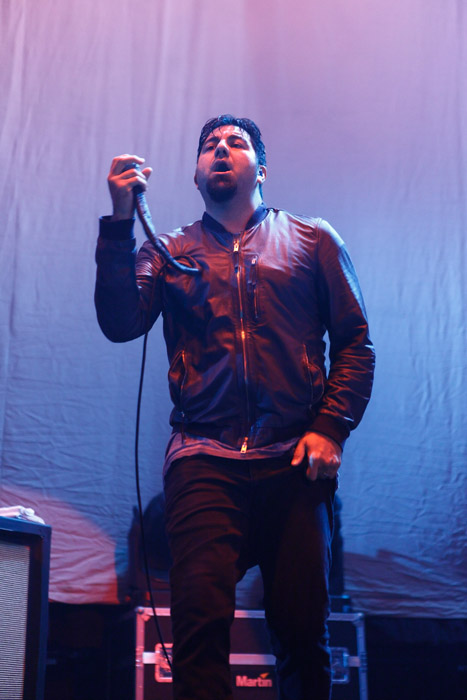 . Chino Moreno of Deftones at Joe Louis Arena. Photo by Ken Settle
