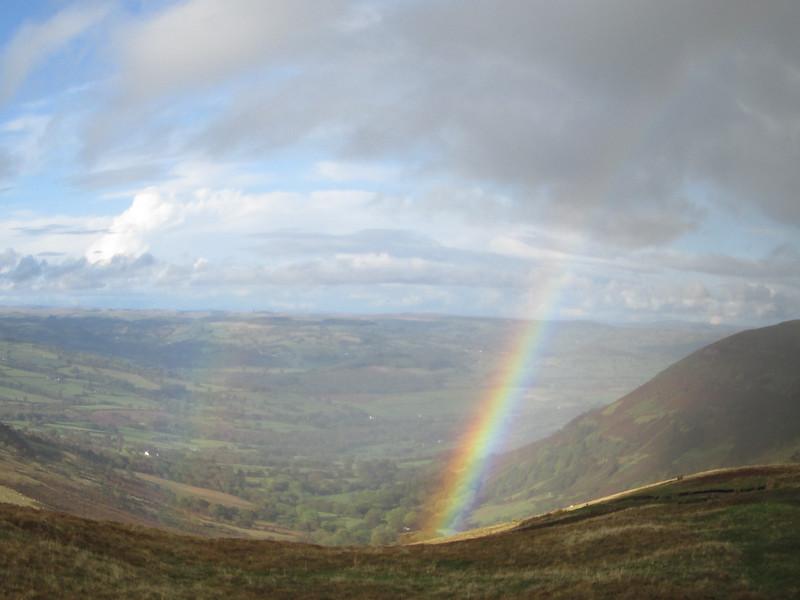 Double rainbow over Cantref