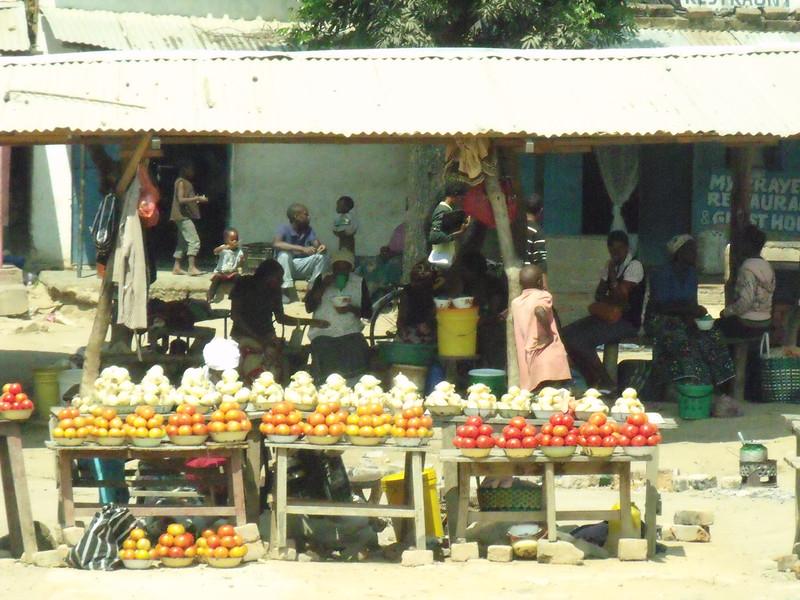 Roadside stall en route to Kalomo