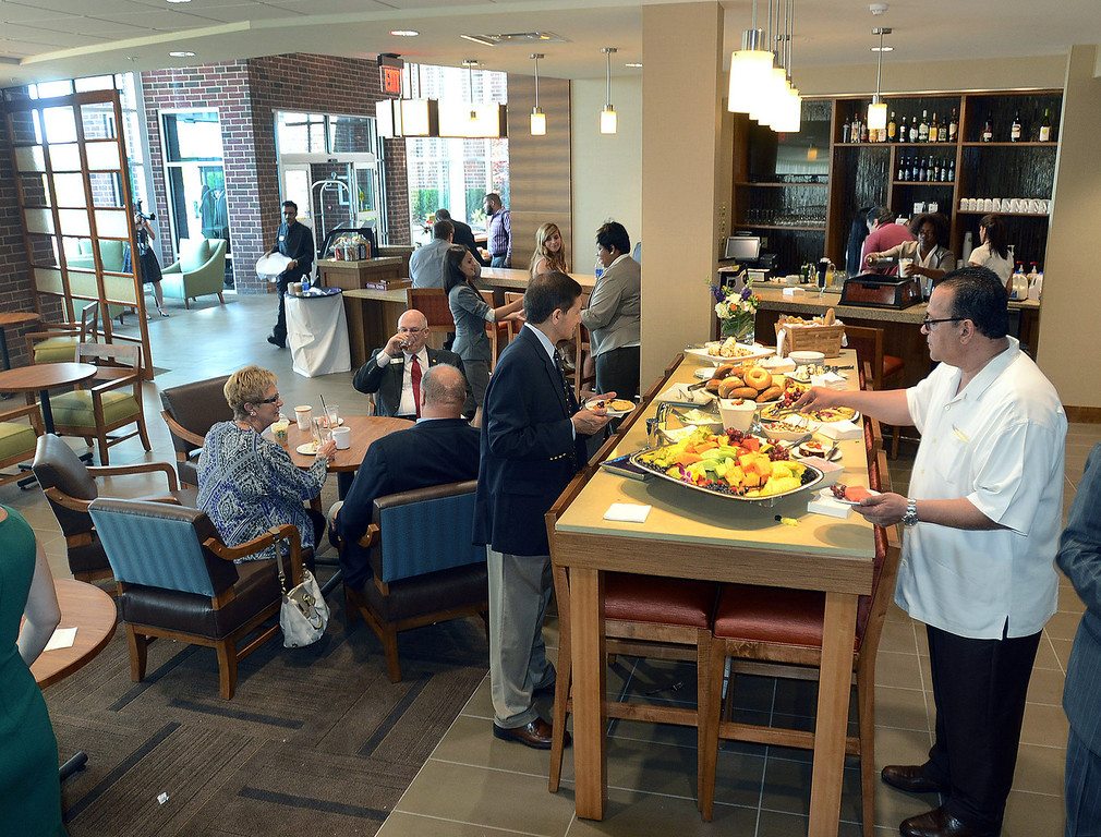 . The Bakery Cafe in the new Hyatt Place hotel, connected to the Suburban Collection Showplace in Novi, during their grand opening today, Tuesday August 20, 2013. (Oakland Press Photo:Vaughn Gurganian)