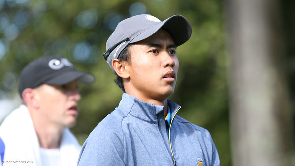 Naraajie Emerald Ramadhan from Indonesia on Day 2 of the Asia-Pacific Amateur Championship tournament 2017 held at Royal Wellington Golf Club, in Heretaunga, Upper Hutt, New Zealand from 26 - 29 October 2017. Copyright John Mathews 2017.   www.megasportmedia.co.nz