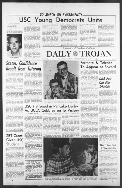 Daily Trojan, Vol. 58, No. 66, February 08, 1967