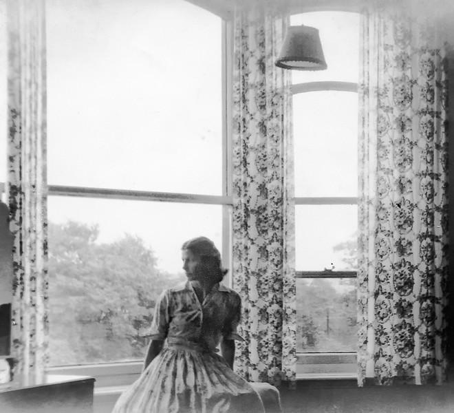 Peggy in Oaklands window