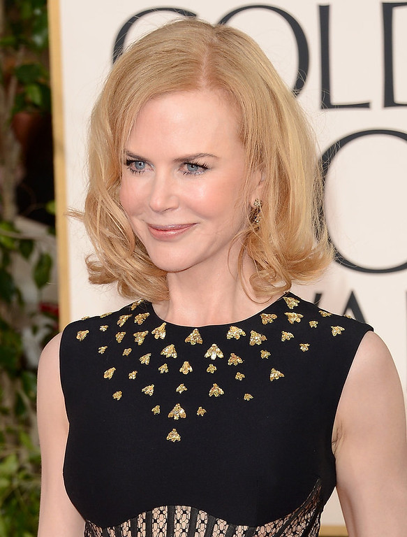 . Actress Nicole Kidman also receives a nomination for worst dressed with this age-inappropriate dress at the 70th Annual Golden Globe Awards held at The Beverly Hilton Hotel on January 13, 2013 in Beverly Hills, California.  (Photo by Jason Merritt/Getty Images)