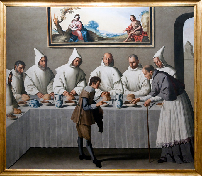 St. Hugh of Cluny in The Refectory of The Carthusians (1633), by Francisco de Zurbarán, Fine Arts Museum, Seville, Spain