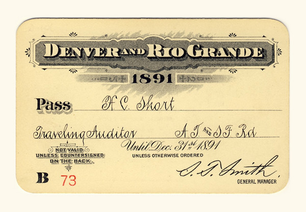 D&RG Railroad 1891