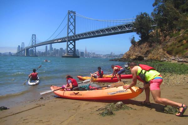 SF Bay Kayak to Yerba Buena Island: July 1, 2017