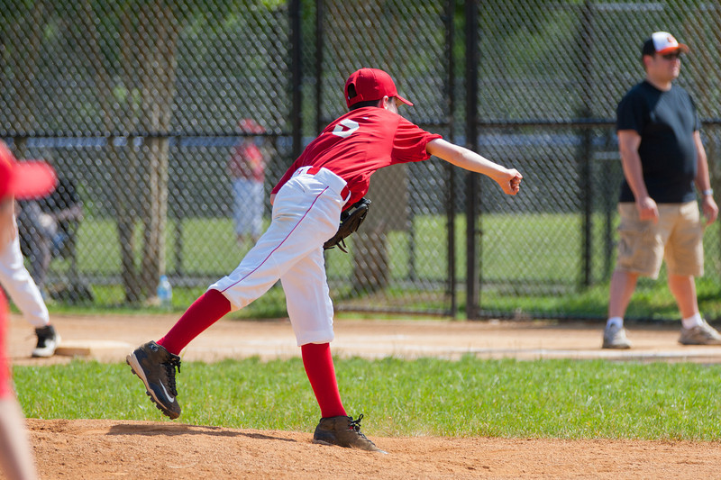 Mac gets a strike out in the top of the 2nd inning. The Nationals struggled on both offense and defense in a 2-11 loss to the Orioles. They are now 7-4 for the season. 2012 Arlington Little League Baseball, Majors Division. Nationals vs Orioles (19 May 2012) (Image taken by Patrick R. Kane on 19 May 2012 with Canon EOS-1D Mark III at ISO 400, f4.0, 1/1600 sec and 215mm)