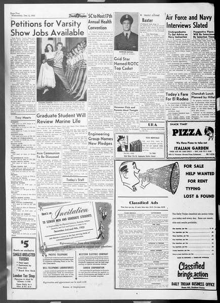 Daily Trojan, Vol. 45, No. 50, December 02, 1953