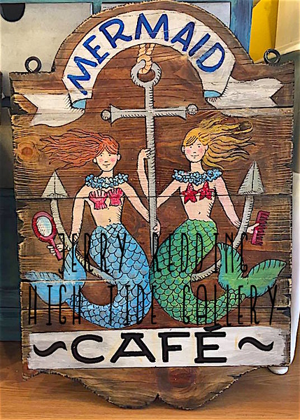 JERRY REDDING - Mermaid Cafe Handmade Sign