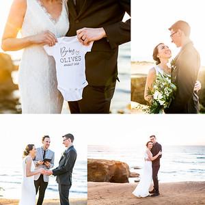 Sunset Cliffs Elopement Wedding Photographs at Sunset - February 2020 Julie & Mike