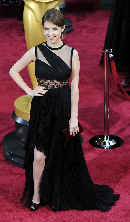 . Anna Kendrick attends the 86th Academy Awards at the Dolby Theatre in Hollywood, California on Sunday March 2, 2014 (Photo by John McCoy / Los Angeles Daily News)