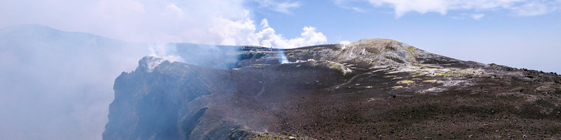 The top of Mt Etna