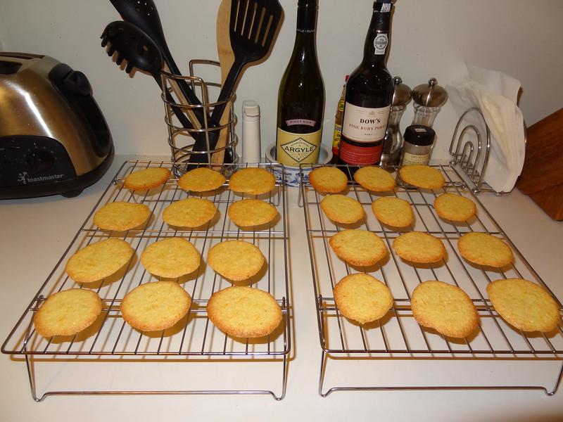 Almond crisps with orange zest. Thin, crisp Italian cookies. Great with tea or coffee.
