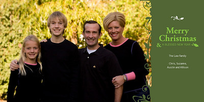 Law Family Christmas Cards