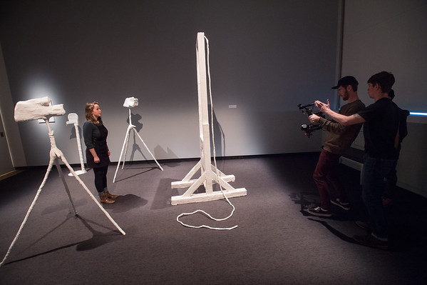 10/26/18 Media Production Class Filming Video at Burchfield-Penney Art Center