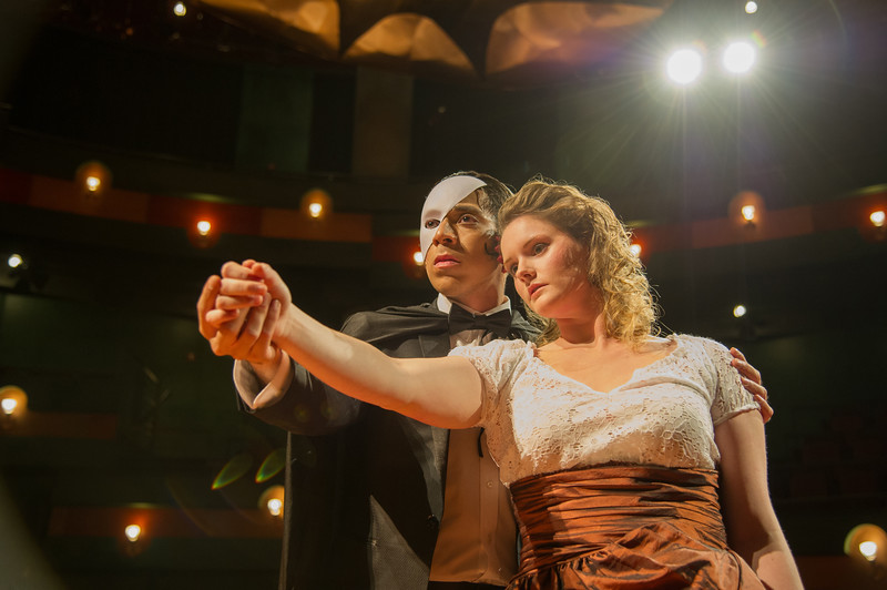 Frank Garcia and Janell Stallard during the Voices of Villainy performance. More Photos: http://bit.ly/1ZXsdq4