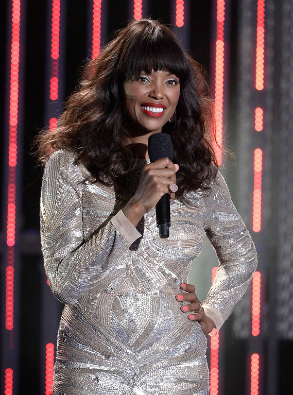 . Host Aisha Tyler speaks onstage during CW Network\'s 2013 Young Hollywood Awards presented by Crest 3D White and SodaStream held at The Broad Stage on August 1, 2013 in Santa Monica, California.  (Photo by Kevin Winter/Getty Images for PMC)