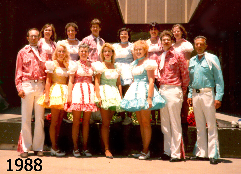 BHC at National Square Dance Convention, Anaheim, 1988