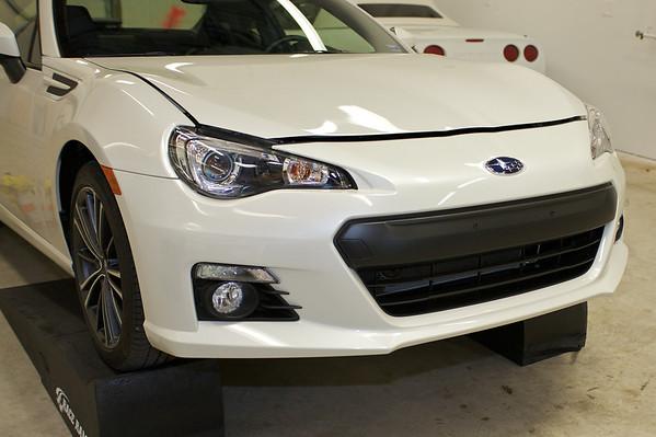 2013 White Subaru BRZ