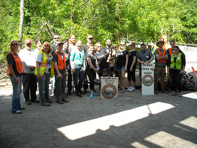 5.18.14 Patapsco River Cleanup in Ilchester Area of Patapsco State Park land with Inspire Salon Friends