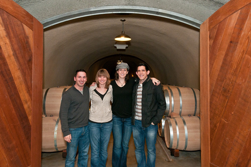 The crew at Jericho Canyon Vineyards. We're in front of their caves