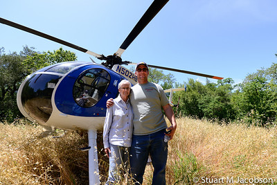 Helicopter vineyard shoot