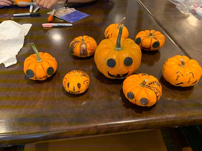 Ignite Senior Visit - Decorating Pumpkins