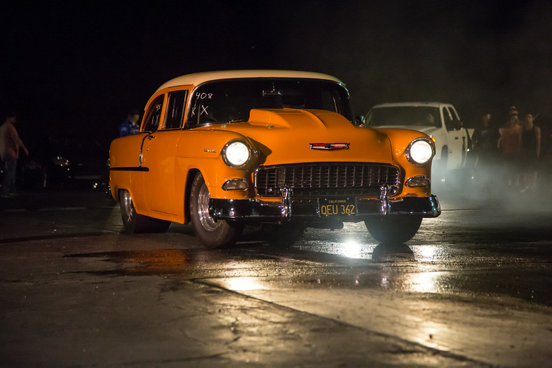 Scott's orange 55 Chevy